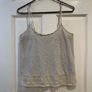 american eagle lace trim tank top small
